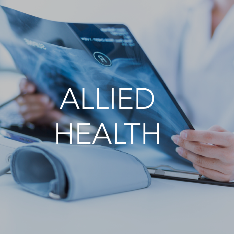 Allied health healthcare setting